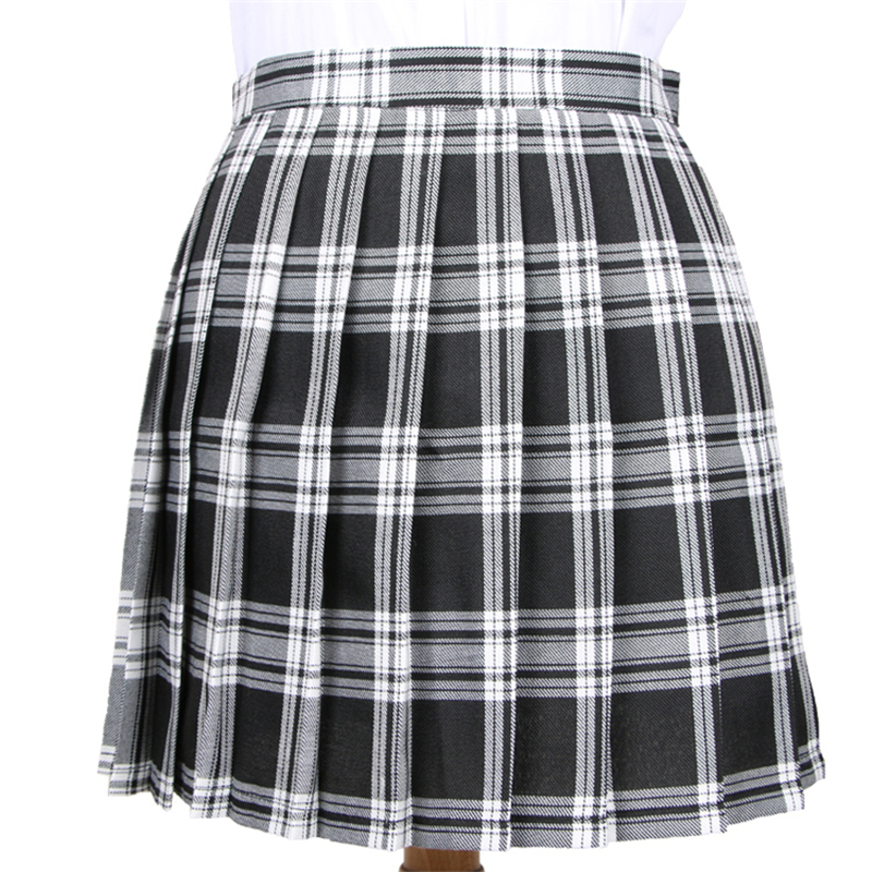 Winter Wool Umbrella A Line Vintage Plaid Skirt Pleated font b Tartan b font Skirts Women