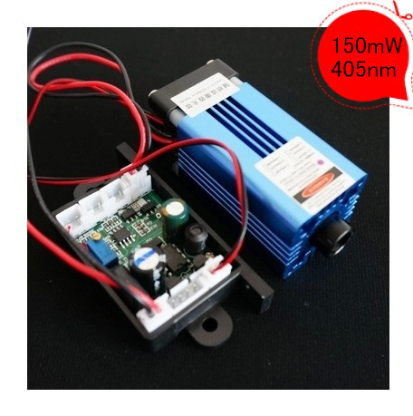 Can work continuously 150mW 405nm blue violet laser module/ laser device TTL modulation,air cooled optical maser