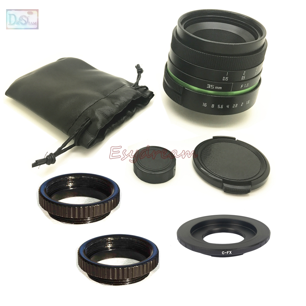 35mm F1.6 Manual Lens + C Mount Adapter + Macro Rings Kit for Fujifilm Fuji FX X-T20 X-T2 XT1 X-A1 X-PRO2 X-PRO1 X-E2s X-E1 X-M135mm F1.6 Manual Lens + C Mount Adapter + Macro Rings Kit for Fujifilm Fuji FX X-T20 X-T2 XT1 X-A1 X-PRO2 X-PRO1 X-E2s X-E1 X-M1