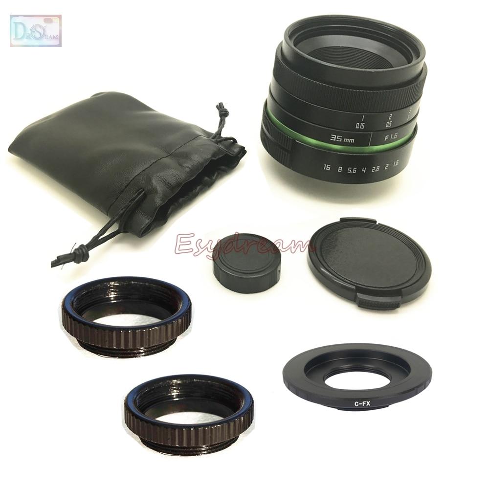 35mm F1.6 Objectif Manuel + C Adaptateur de Montage + Bagues Macro Kit pour Fujifilm Fuji FX X-T20 X-T2 XT1 X-A1 X-PRO2 X-PRO1 X-E2s X-E1 X-M1