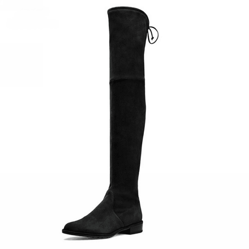 Women Over The Knee Boots Suede Thigh High Boots 2016 Autumn Winter Ladies Fashion Fur Warm Chunky Heel Boots Snow Shoes Woman ppnu woman winter nubuck genuine leather over the knee snow boots women fashion womens suede thigh high boots ladies shoes flats