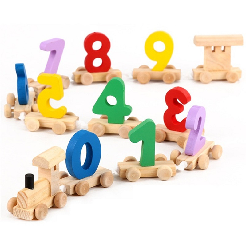 Montessori Math Toys For Children Learning Education Toys Wooden Digital Game girls countable material brinquedos 50