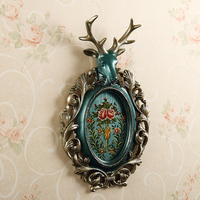 The deer head hanging Home Furnishing entrance wall decoration crafts European Club restaurant decoration