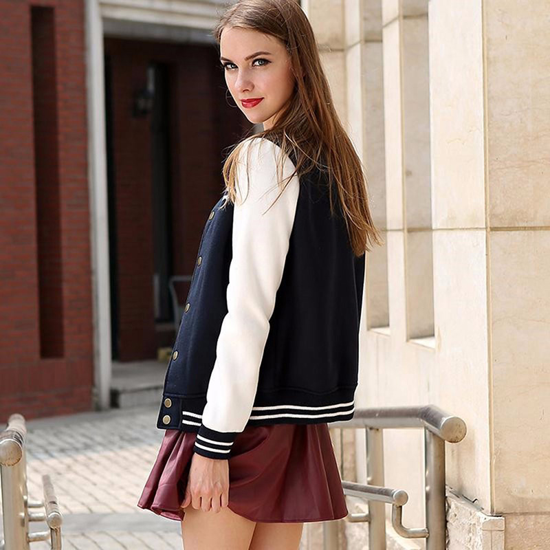 Composite Bats 2017 New Spring Sportswear Women Baseball Jerseys Woman Baseball Clothing Sports Jacket Coat Letters O-neck Wide-Waisted Jacket