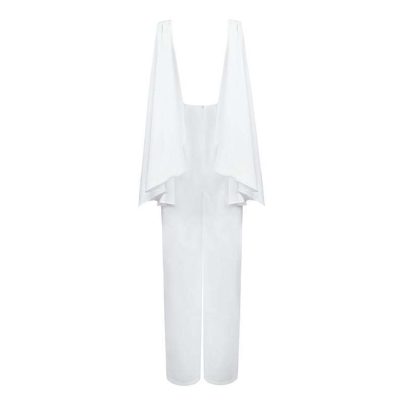 2019 Réservoir Pantalons Nouveau Col Décontracté Mode Bqueen Large Lâche De Combinaisons Dos Rond Nu Jambe aE6FqPwxTF