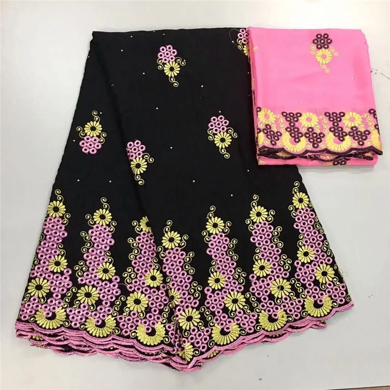 5+2 Swiss lace fabric 2019 Dubai heavy beaded embroidery African lace fabrics 100% cotton Swiss voile lace in Switzerland 8L0429