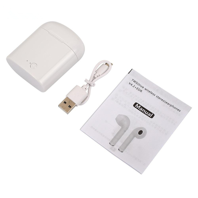 i7s Tws Bluetooth Earphones Mini Wireless Earbuds Sport Handsfree Earphone Cordless Headset with Charging Box for xiaomi Phone 5