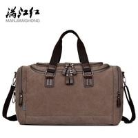 MANJIANGHONG Men's Travel Bag Large Capacity Simple Men Handbag Canvas Business Travel Retro Fashion Shoulder Messenger Man Bag
