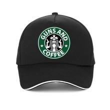 I Love Guns And coffee Baseball Caps print Cartoon men Women Funny Gun cap Unisex hip hop Snapback hat adjustable bone