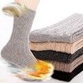 2016 otoño/invierno gruesos de lana de Conejo calcetines de los hombres de gama alta de doble aguja calcetines de lana de conejo Mantener caliente con gruesa