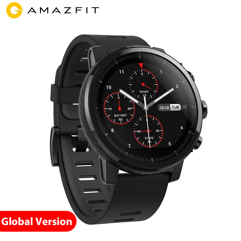 Xiao mi Hua mi Amazfit 2 Amazfit Stratos montre intelligente Pace 2 montre intelligente hommes avec GPS Xiao mi montres PPG moniteur de fréquence cardiaque 5ATM