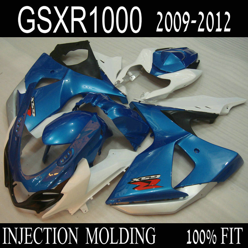 Hot selling Injection fairing for SUZUKI GSXR 1000 2009 2010 2011 2012 K9 GSXR1000 09-12 blue white black fairings kit MI92