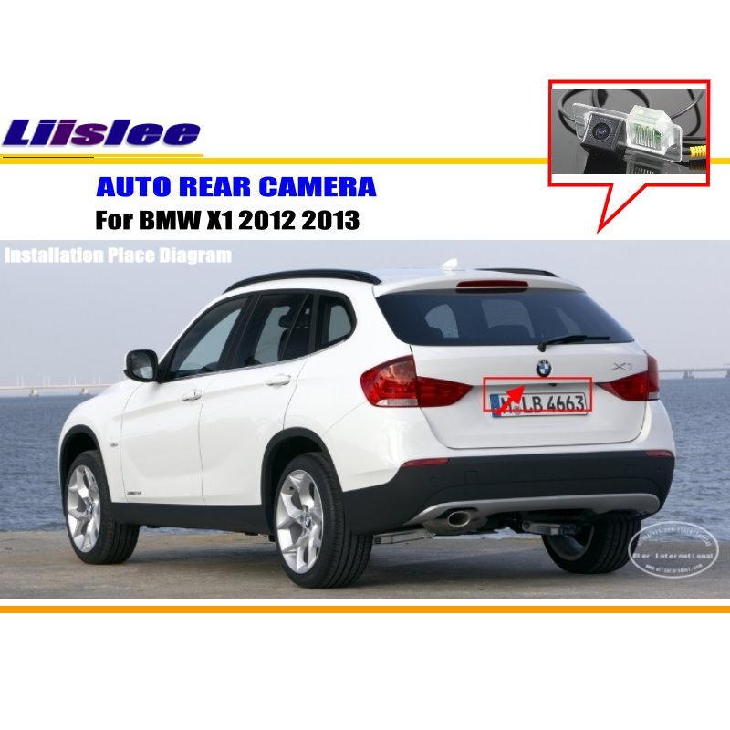 Liislee Pour BMW X1 2012 2013-Caméra de Recul/De Sauvegarde Parking caméra/HD CCD RCA NTST PAL/de Lumière de Plaque D'immatriculation