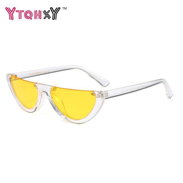08075e6b2ed7 New trend Cool Small Size Half Frame Vintage Shades UV400 Cat Eye Sunglasses  Women Fashion HD Brand Designer Sun glasses Y320