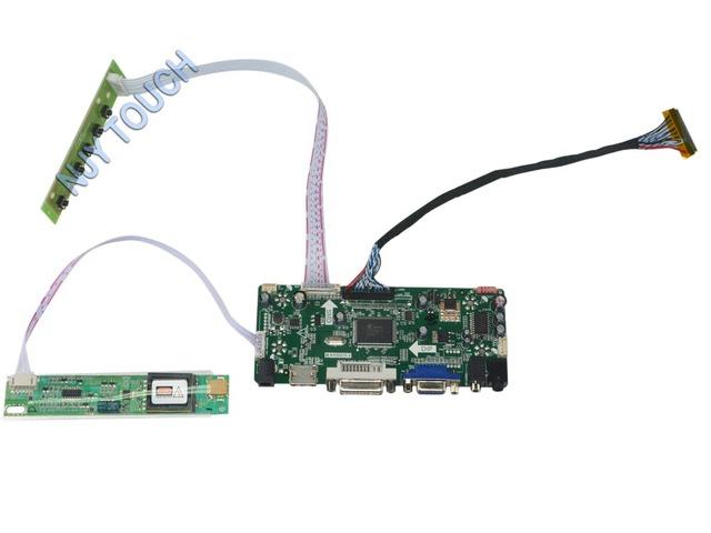 M. NT68676.2A HDMI DVI VGA Placa Controladora de Áudio LCD Universal para 17 polegadas 1440x900 LVDS CCFL B170PW01 Monitor de Kit