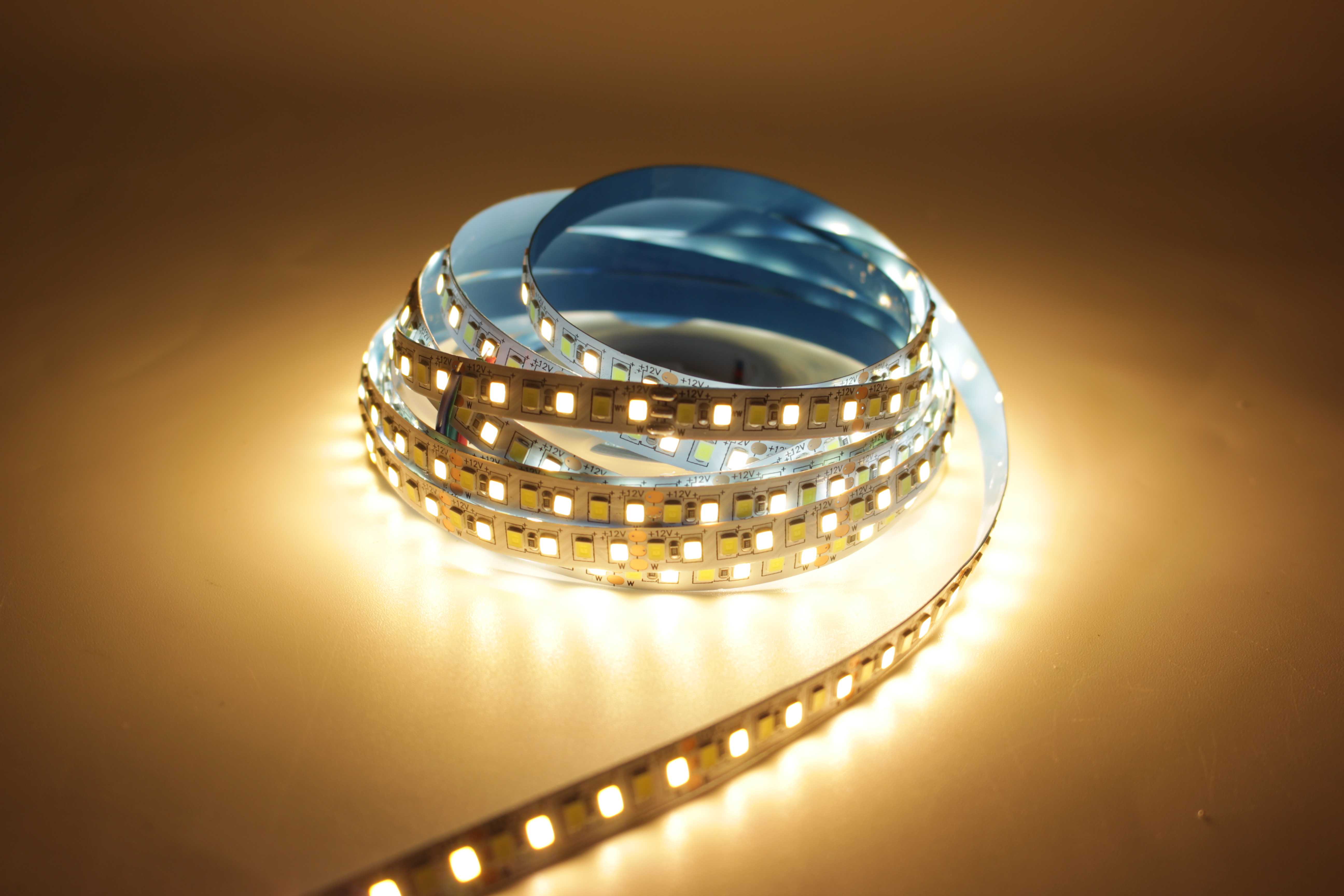 Image 5 - 5M Dual Color CRI>80 SMD2835 CCT Dimmable LED Strip Light 12V DC WW CW Color Temperature Adjustable Flexible LED Tape Ribbon-in LED Strips from Lights & Lighting