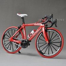 1:10 масштаб литой металл модель велосипеда игрушки гоночный цикл крест дорожный велосипед миниатюрная копия коллекция