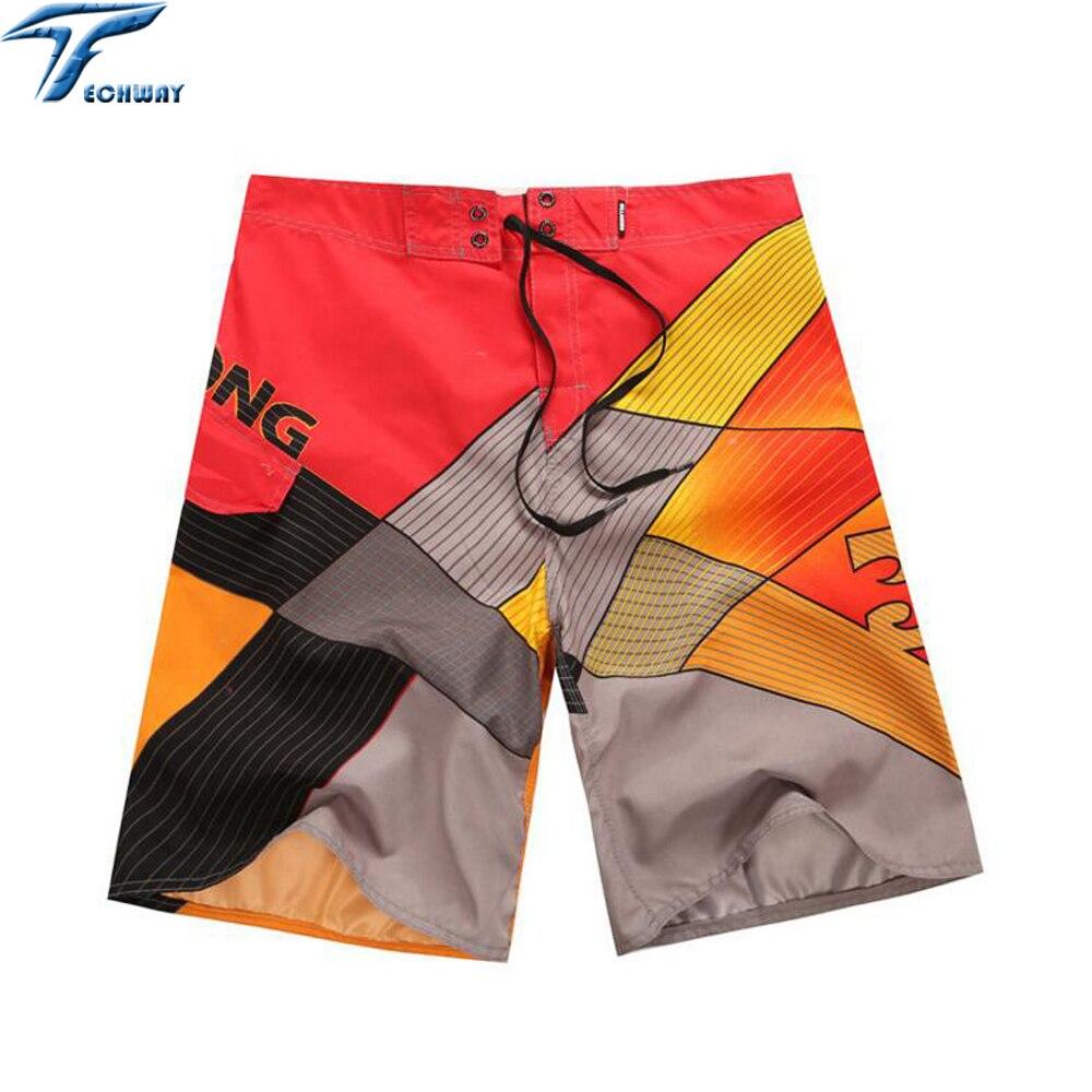 New arrive Mens Shorts Surf Board Shorts Summer Sport Beach Homme Bermuda Short Pants Quick Dry Silver Boardshorts 2018 New