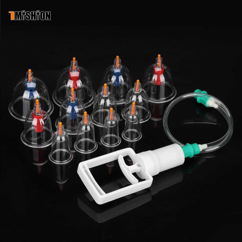12 Pieces Chinese Cupping Therapy Equipment Set 2