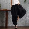 Autumn Winter Hot Sale Women Linen Haren All-Match Loose Pantalon Palazzo Pants Wide Leg Bloomers Hip Hop Candy Colored