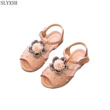 SLYXSH New summer children sandals girls and boys sport shoes antislip soft bottom kids sandals comfortable breathable sneakers