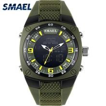 SMAEL 1008 Luxury Brand Clock Men Military Sports Watches Digital LED Quartz Wristwatches Rubber Strap Relogio Masculino Watch, цена в Москве и Питере