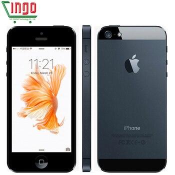 D'origine Apple iPhone 5 cellulaire Déverrouillé téléphone 16 & 32 & 64 gb Dual-Core 1 ghz 3g WIFI GPS 8MP 1080 p 4.0