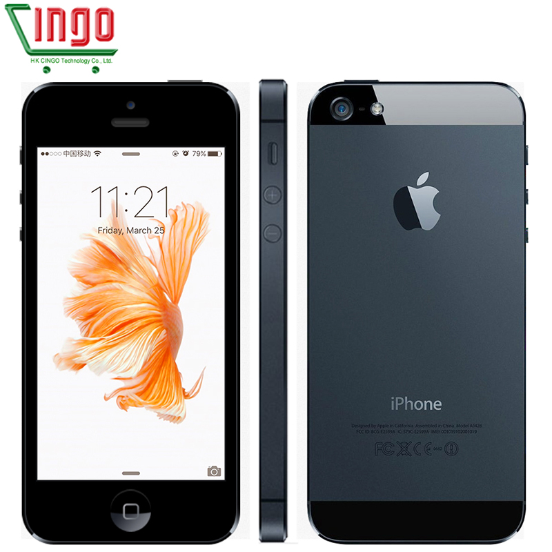 Original Da Apple iPhone 5 Desbloqueado telefone celular 16 & 32 & 64GB Dual-Core GHz 3 1G WIFI GPS 8MP 1080P 4.0