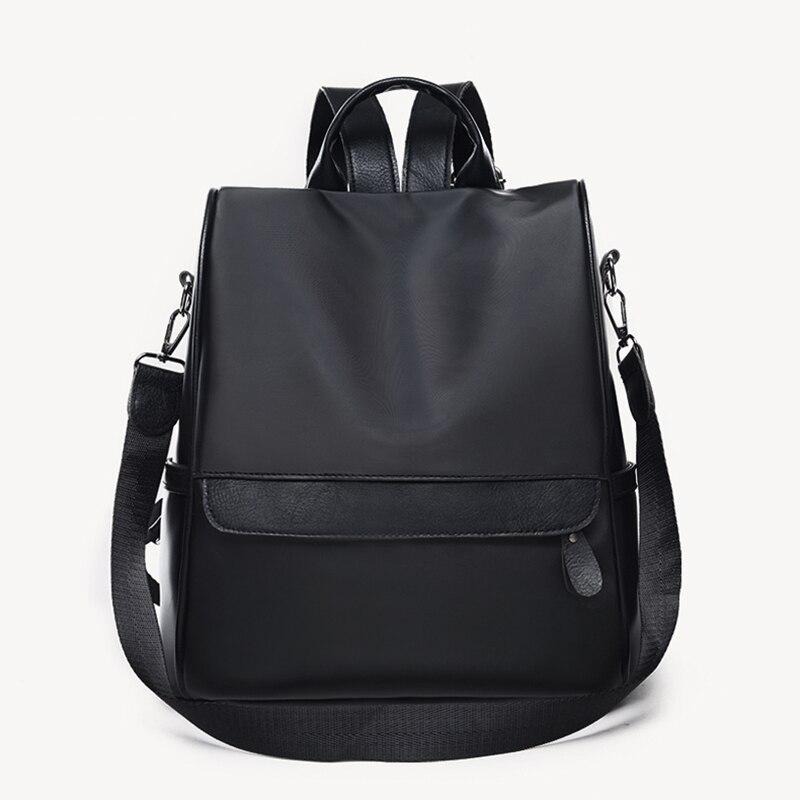 все цены на Anti Theft Women Backpacks 2018 Female Big Backpack Casual Travel School Bags Oxford Shoulder bags Girls Nylon Bagpack mochila
