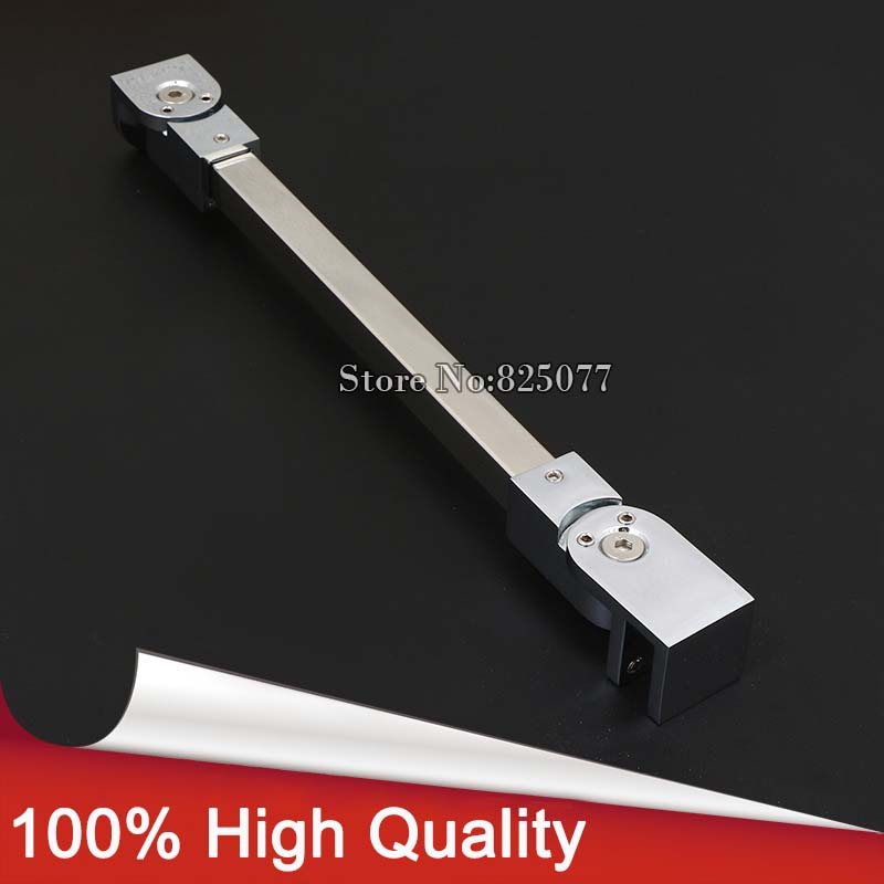 Shower Room Supporting Bar Accessary Bathroom Glass Holding Clamp 304 Stainless Steel,Angle adjustable 40/60/80/100cm KF791