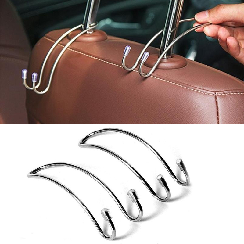 Multi-functional Car Seat Back Hook Car Hidden Headrest Hanger for Handbag Shopping Bag Coat Storage Hanger Car Accessories (1)