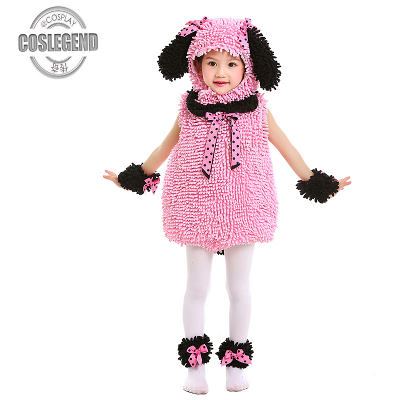 Baby and kids Pink Poodle Jumper Costume Child Animal Costumes Kids Girls Halloween Party Costume