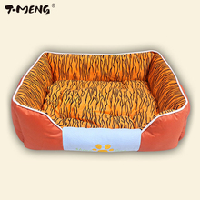 Фотография T-MENG Pet Dog Bed Warming Dog House Durable Lucxury Pet Nest Fall Winter Warm Nest Kennel For Cat Puppy Goods For Pet Products
