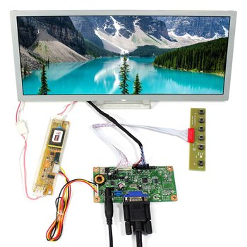 "VGA LCD Controller Board Wtih 12.3"" 1280x480 LQ123K1LG03 LCD Panel"
