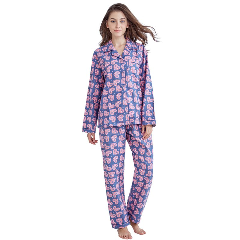 16601572f1 Tony Candice Women Pajamas Pyjama Set 100% Cotton Ladies Sleepwear Long  Sleeve Flannel Print Loungewear In Autumn Nightgown-in Pajama Sets from  Underwear ...