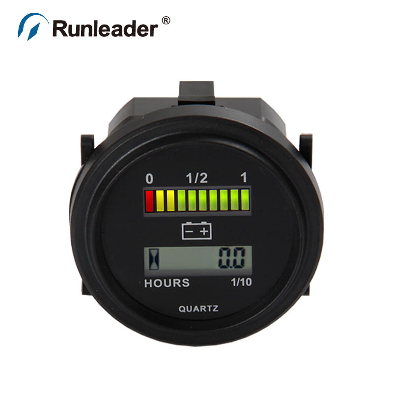 Battery 24 Volt Hour Meter : Round hour meter battery indicator v for