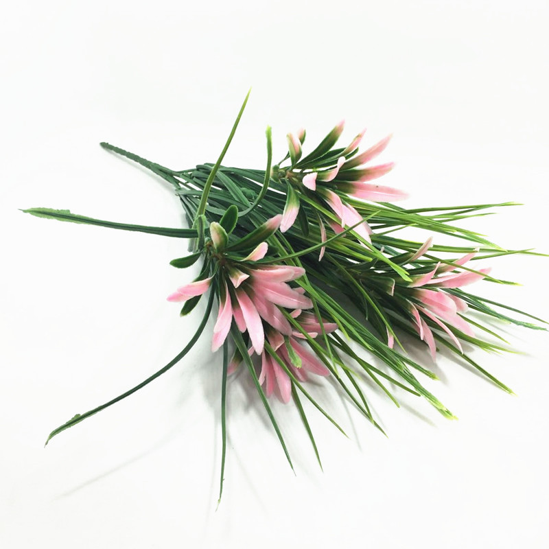 artificial flowers of grass Grass green spring grass flowers, plastic flowers home decoration home flowers decoration
