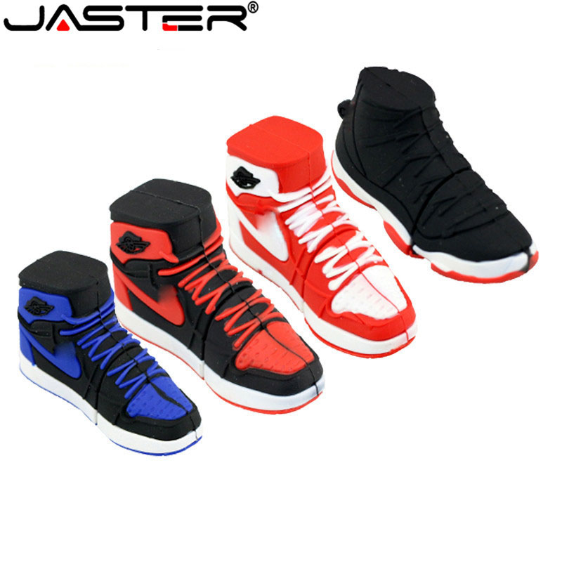 JASTER Basketball Shoes Usb 2.0 Flash Drive Pendrive 4GB 8GB 16GB 32GB 64GB Sports Shoes Memory Disk