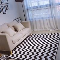 Modern Simplicity Black White Chevron Bear Living Room Bedroom Decorative Carpet Area Rug Bathroom Foot Door Yoga Play Mat Pad