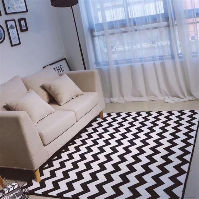 Simplicité moderne noir blanc Chevron ours salon chambre décoratif ...