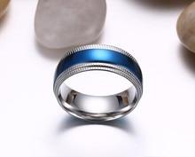 Blue Rings Stainless Steel