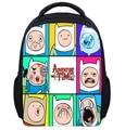 13 Inch Kids Backpack Adventure Time Children School Bags Boys Girls Daily Backpacks Students Bag Mochila Gift