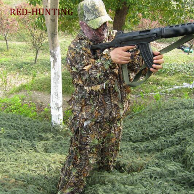 Hunting Camouflage Ghillie Suit 3D Camo Lightweight Hooded Clothing <font><b>Jungle</b></font> Military Training Uniform for Sniper Pubg Cs Games image