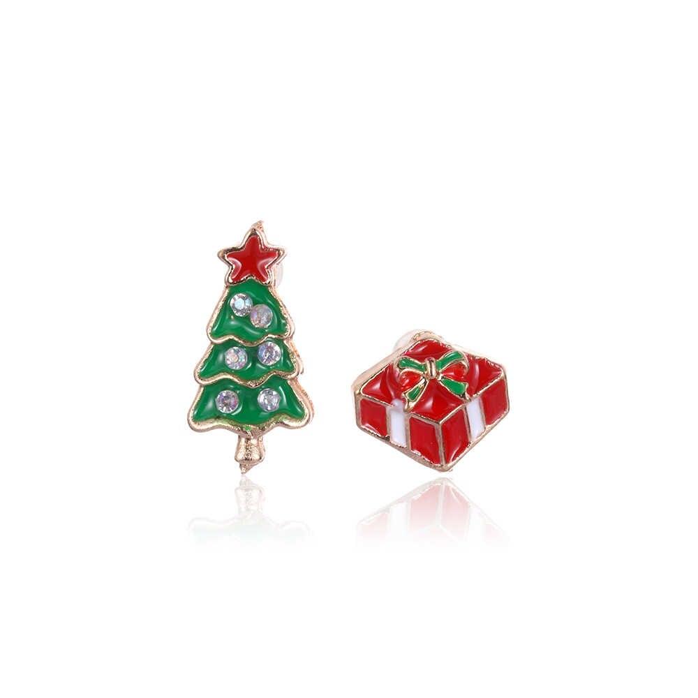 1 paar Leuke Rhinestone Crystal Sneeuwpop Herten Bel Stud Hoed Boot Ster Kerstboom Elanden Oorbellen Ear Stud Mode-sieraden gift