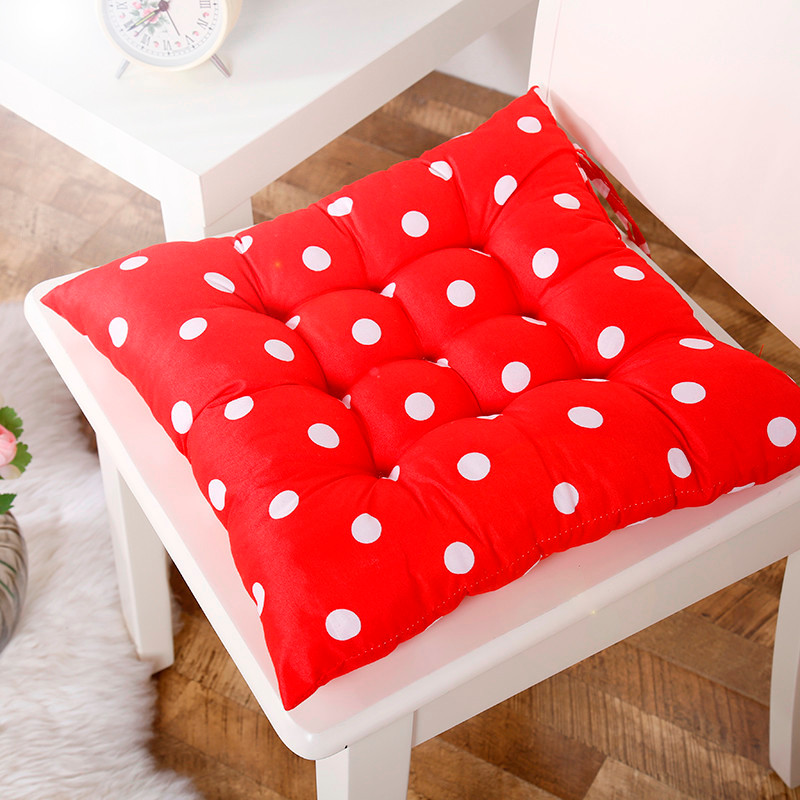 soft home office cotton polka dot seat cushion buttocks chair pads home kitchen chairs sit pad