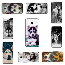 Black Soft TPU Cover For Meizu M5S Mini Phone Case For Meizu M5S Shell for Meilan 5S Ultra Thin Husky Pattern Skin Fundas
