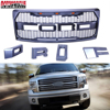 Car Accessories Black Raptor Style For Ford F 150 F150 2009 2014 Grille Conversion Racing