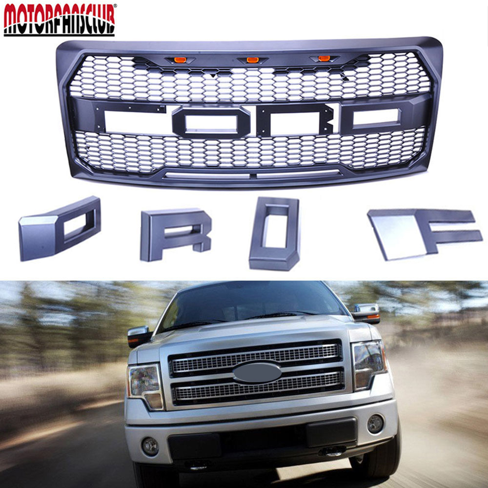 Car accessories black raptor style for ford f 150 f150 2009 2014 grille conversion