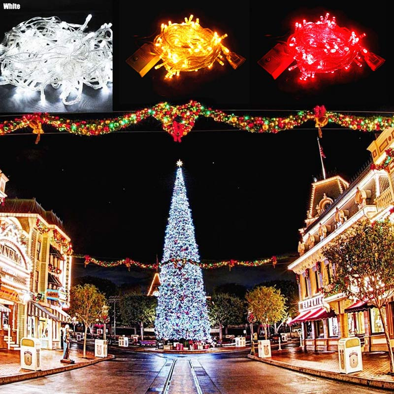 10M String Lights 100 Leds Waterproof Christmas Tree Birthday Party Courtyard Home Decoration Outdoor Lamp EU Adapter GHS99