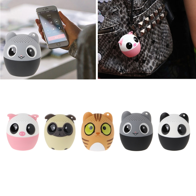 OOTDTY Mini Animal Bluetooth Wireless Speaker Audio Player Remote Selfie For Phone Tablet PC